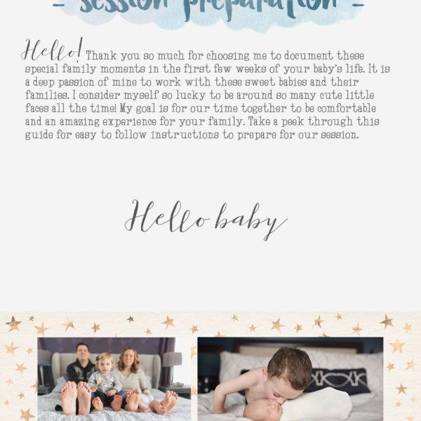 Lifestyle newborn session prep guide