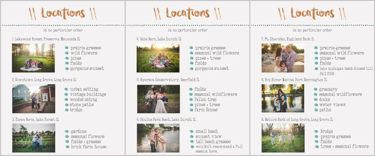 locations guide template jessica weinstock photography lake rh jessicaweinstockphotography com indesign product guide template Product Manual Template